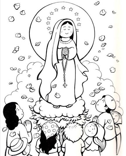 Our Lady Of Lourdes Color In Free Coloring Pages Coloring Pages