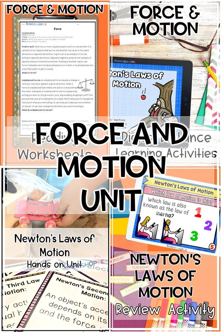 Newton's Laws of Motion NGSS STEM and Activity Unit in