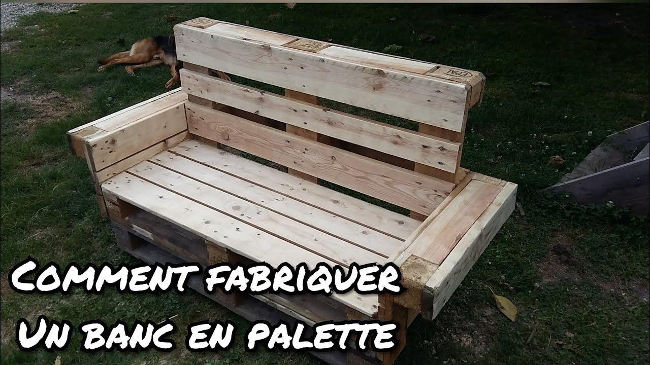 Comment Faire Un Banc En Palette Banc En Palette Meuble Jardin Palette Salon De Jardin Palettes
