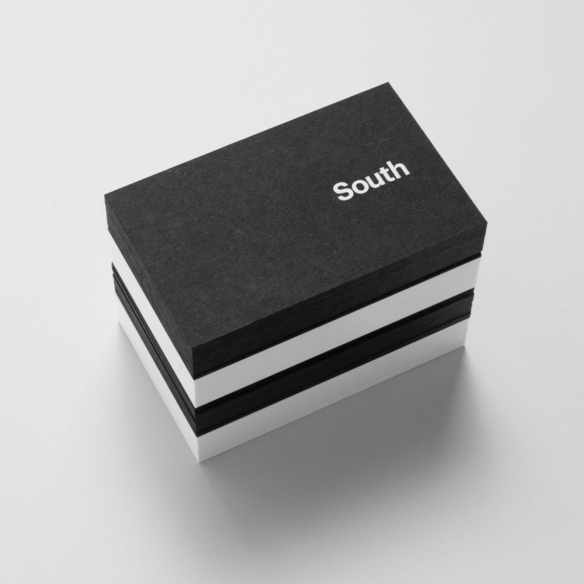 New Brand Identity for Studio South — BP&O | Black business card ...