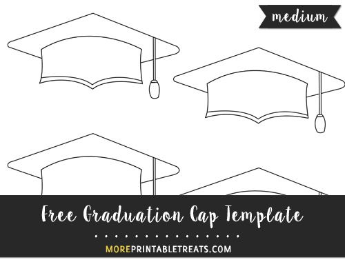 picture relating to Printable Graduation Cap Pattern known as Free of charge Commencement Cap Template - Minor Commencement Present