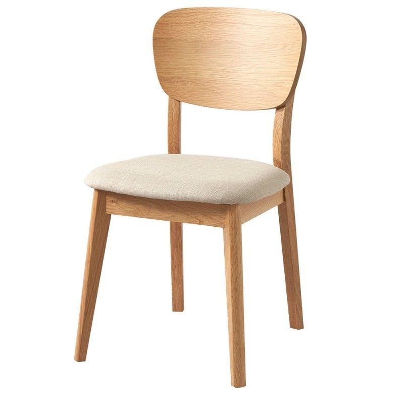 Vaasa Bettina Modern Danish Style Veneer Back Chair Oak   Retrojan