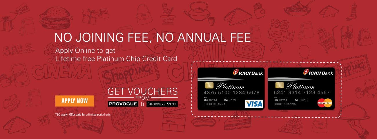 Platinum Chip Credit Card Insurance Investments Banking Services Icici Bank