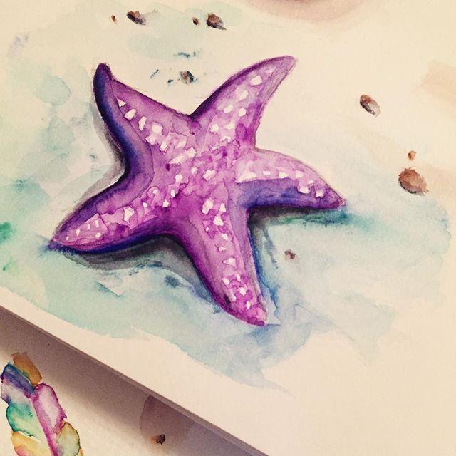 Watercolorpens Watercolors Starfish Starfish Painting Starfish Art Starfish Drawing