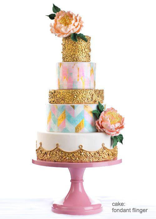 Blush Pink Wedding Cake Stand