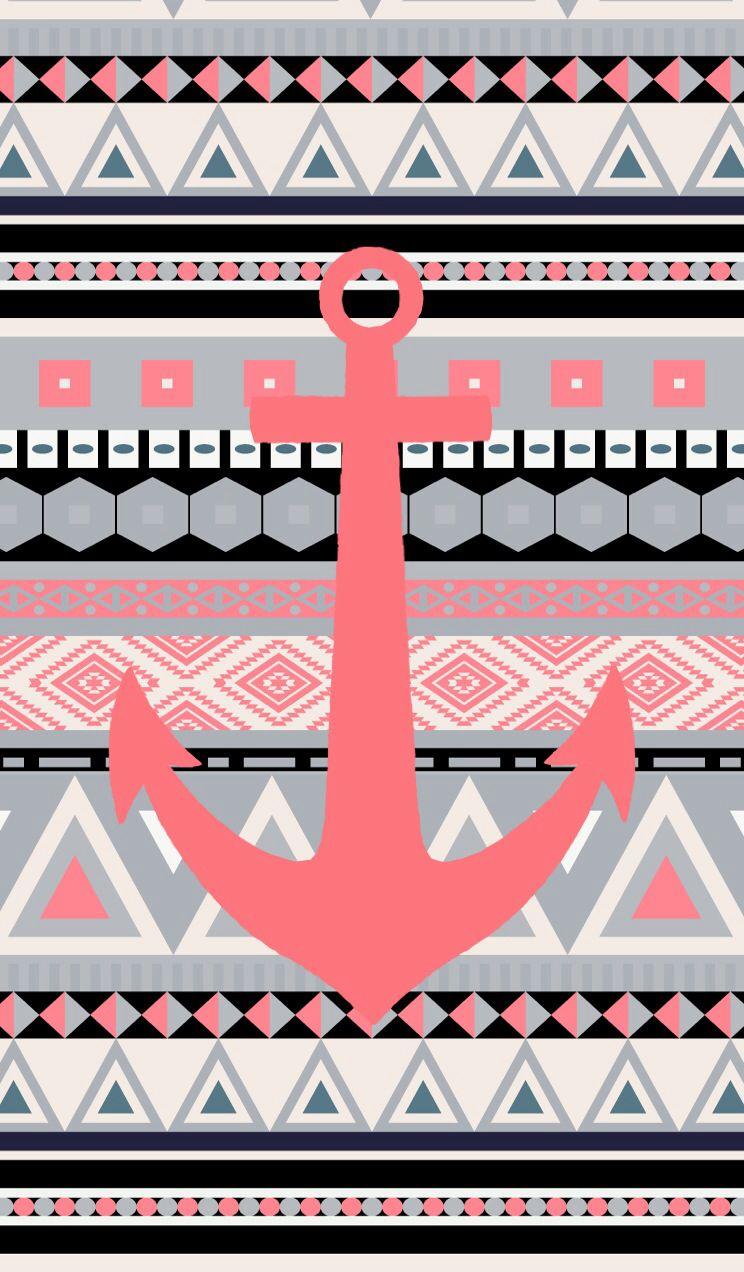 Tribal iphone wallpaper tumblr - Coral Tribal Anchor
