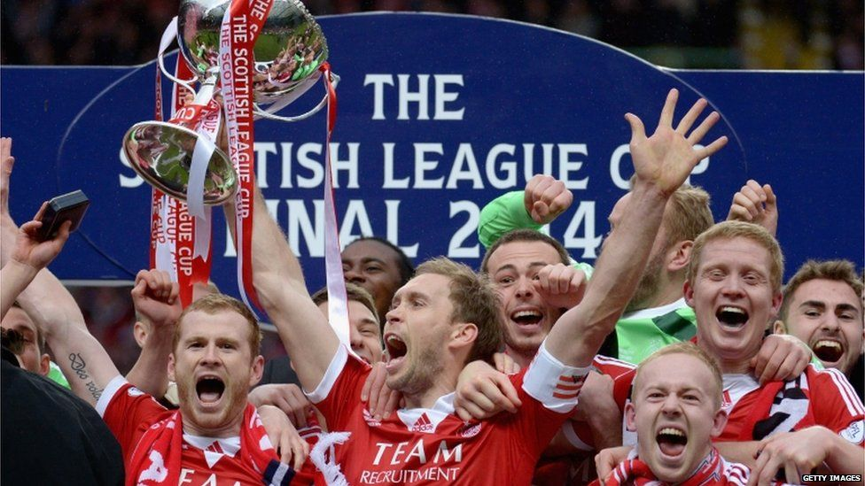 In pictures Aberdeen win cup final Aberdeen football