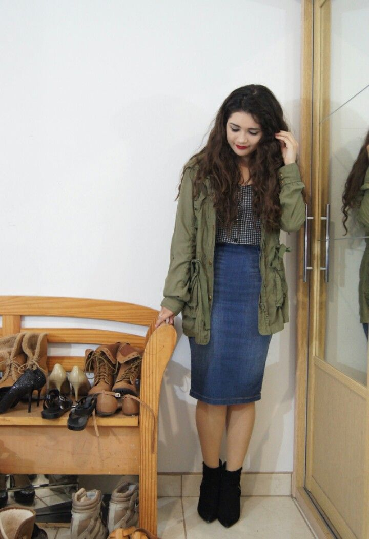 ef59f227efe7 m o d e s t | Skirts in 2019 | Casual skirt outfits, Skirt outfits ...