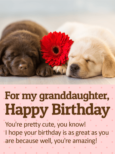 To My Cute Granddaughter