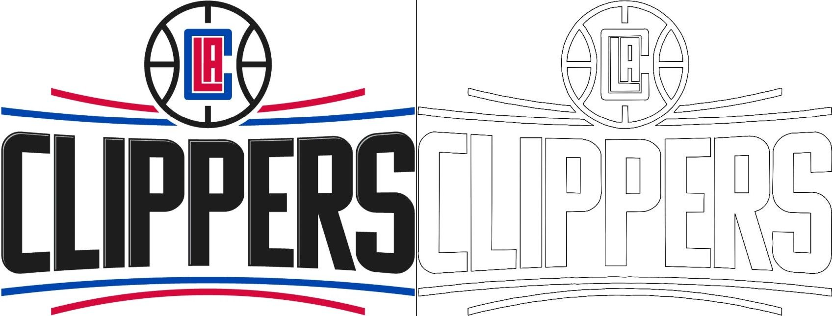 Clippers logo coloring page in 2020 Logos, Coloring