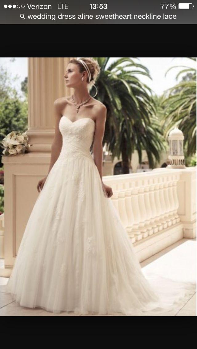 Aline sweetheart lace strapless wedding dress