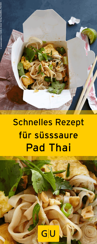 """Schnelles Rezept für leckere Pad Thai aus dem Buch """"Fastfood at home"""". ⎜GU"""