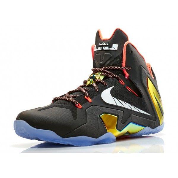 save off 377a9 67a1e Authentic 642846-002 Nike LEBRON 11 Elite Black White-Metallic Gold-Bright  Mango
