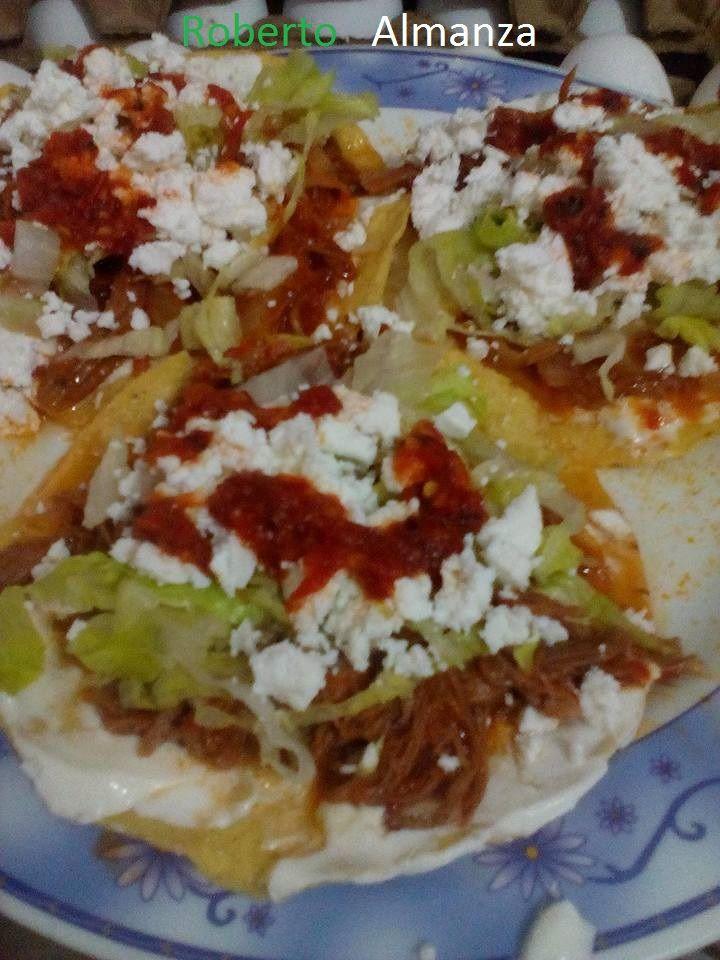 Tostadas de tinga de res  Comida Mxicana y algo mas