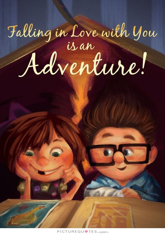 Falling in love with you is an adventure. Love quotes on PictureQuotes.com.