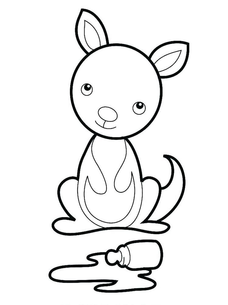 Baby Kangaroo Coloring Page Coloring Pages Animal Coloring Pages Kangaroo Craft