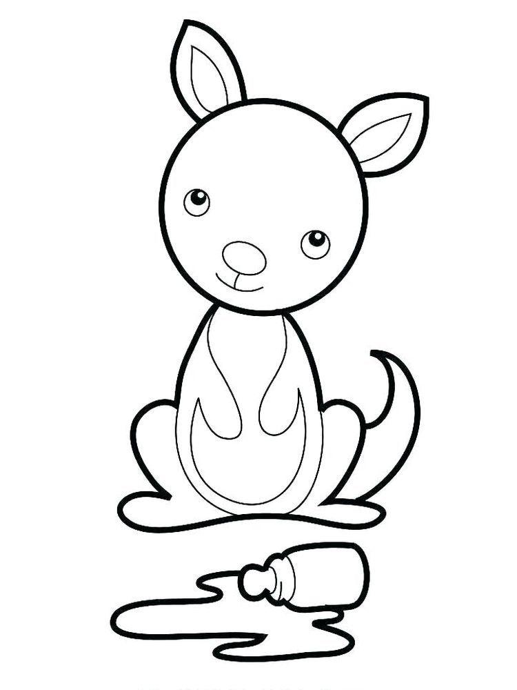 Joey Coloring Page Kangaroo And Baby Kangaroo Joey Coloring Page