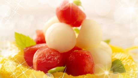 Christmas Starters.Do You Like Fruity Starters Try This Melon With Yogurt