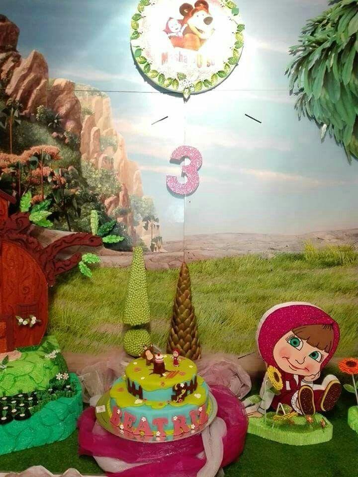 Festa de aniversário a Masha e o Urso da Beatriz que fez 3 aninhos. Reserve agora a sua antes que esgote...