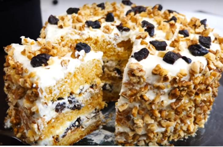 Воздушный торт «Герцогиня» с медовыми коржами | Десерты ...