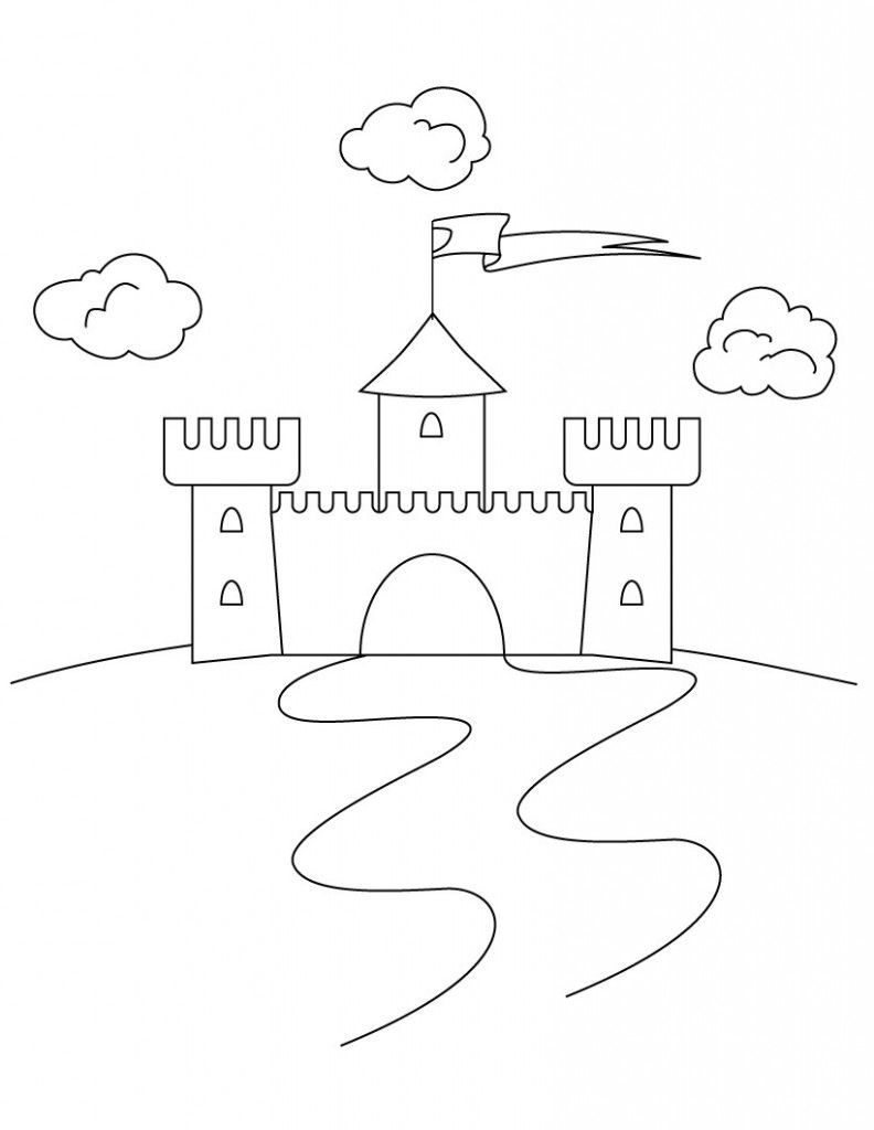Free Printable Castle Coloring Pages For Kids | Castles and Free ...