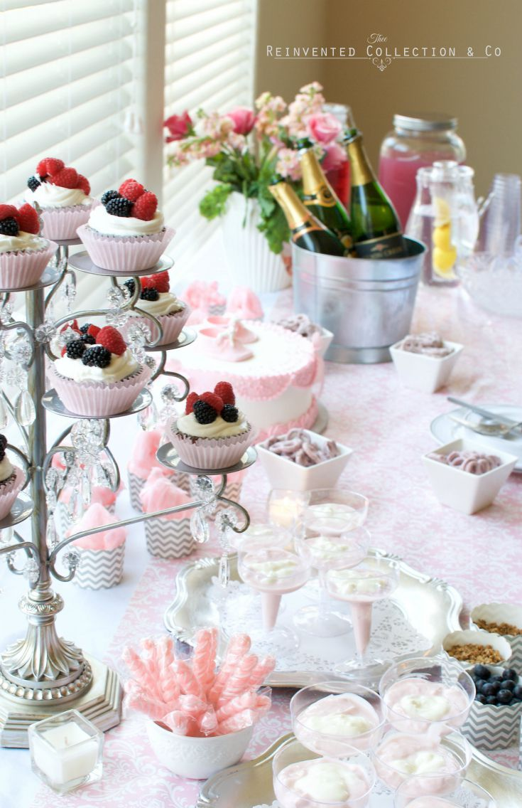 desserts, cakes, treats for baby shower