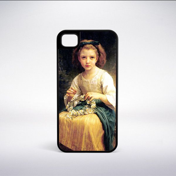 William-Adolphe Bouguereau - Child Braiding A Crown Phone Case