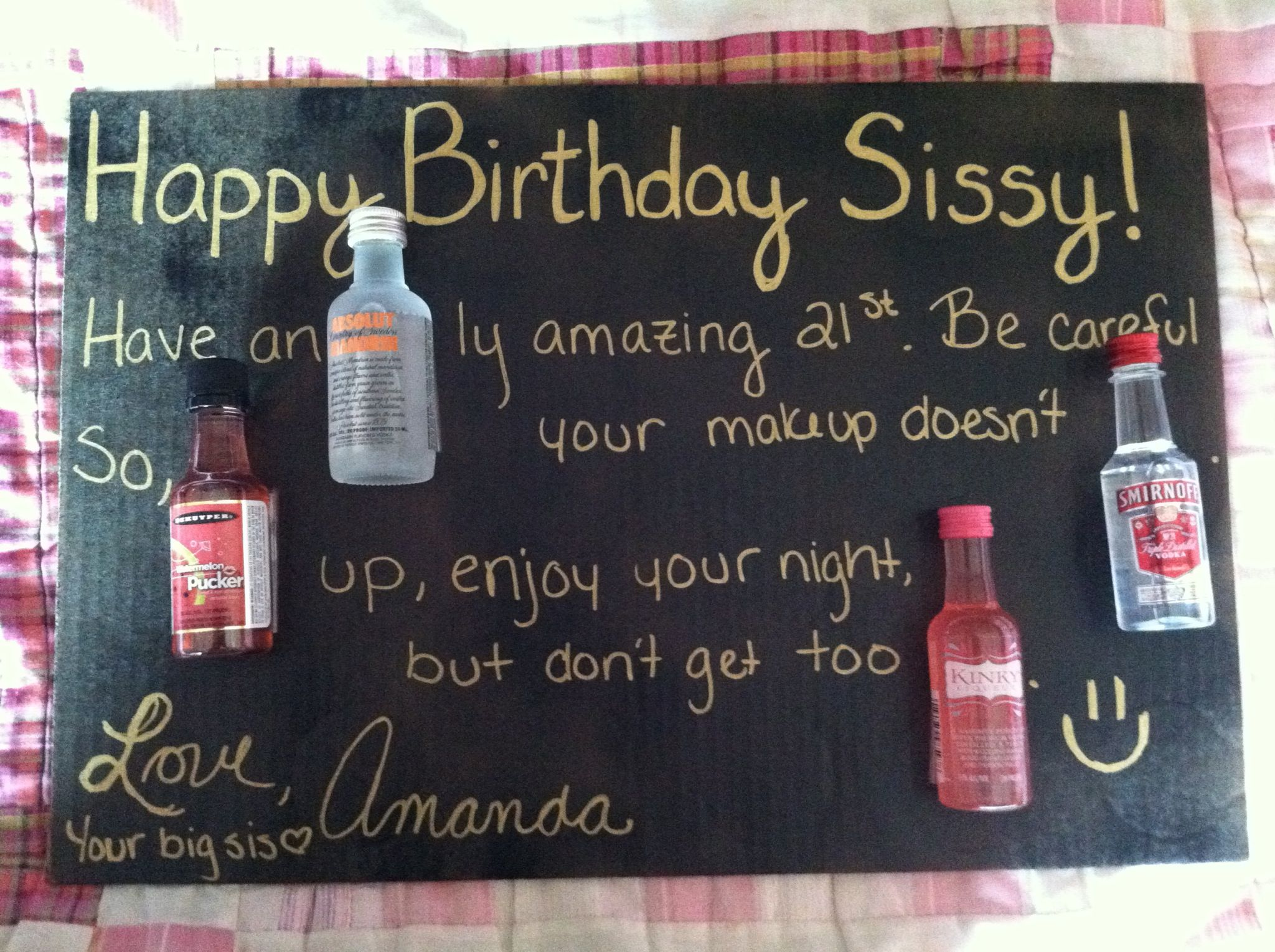 Cute 21st Birthday Card For My Sister
