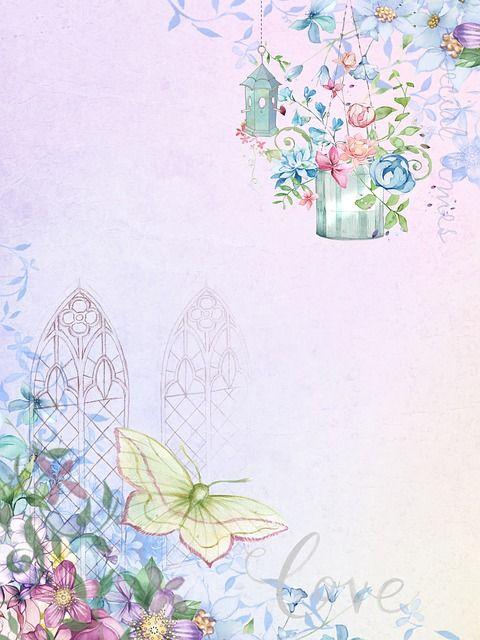Immagine Gratis Su Pixabay Sfondo Romantico Farfalla Fiori