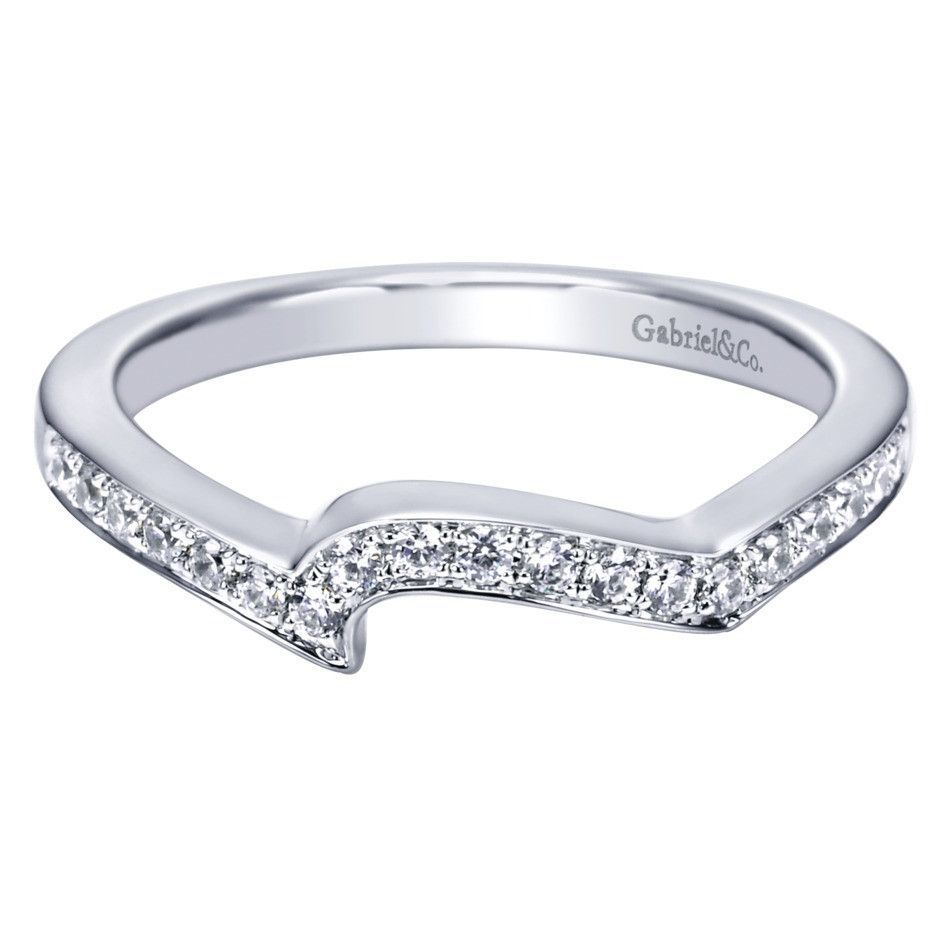 curved wedding band white gold
