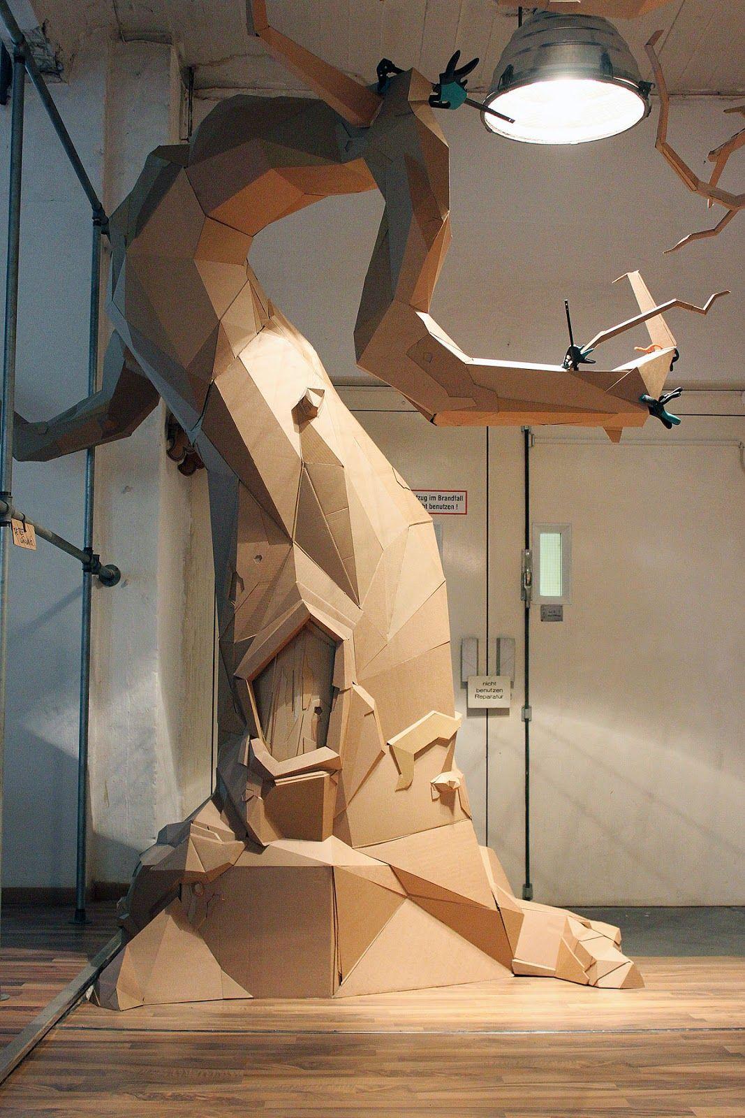 Bartek Elsner y sus sorprendentes esculturas de cartón reciclado | EcoSiglos
