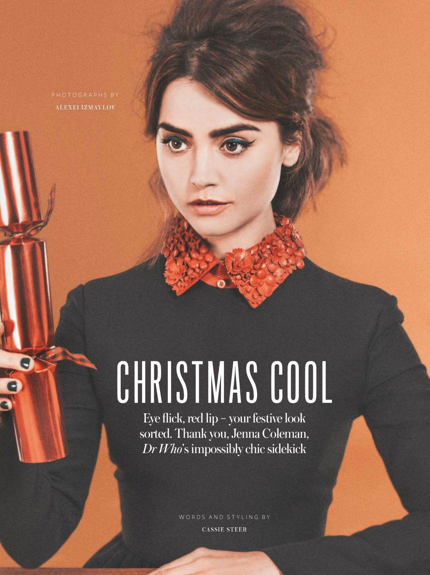 Jenna Coleman for InStyle Magazine, December 2014