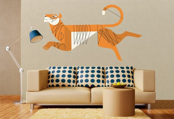 Mid-Century Modern Wall Decor by Eleanor Grosch. Animal Wall DecalsWall Art ...  sc 1 st  Pinterest & Mid-century modern