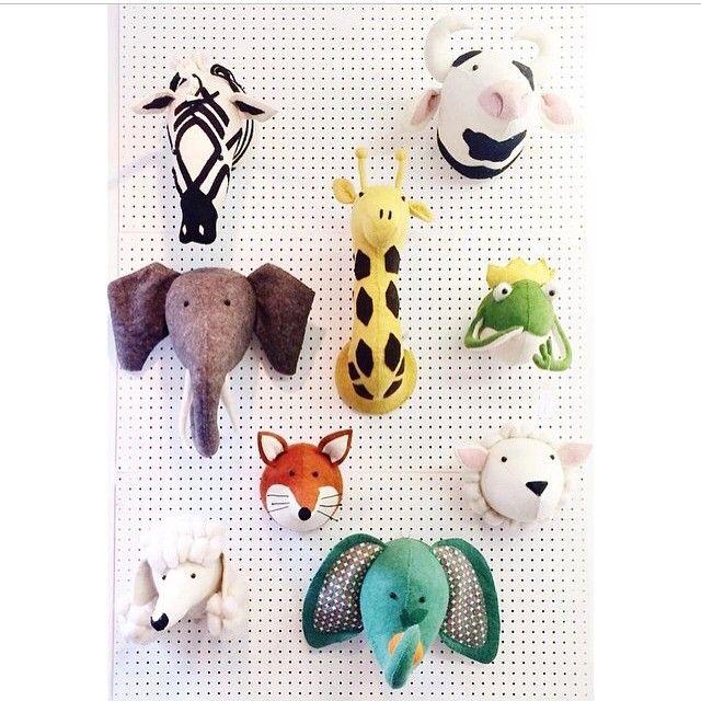Scandi Chic Fiona Walker Felt Animal Heads For The Kids Room Interiors Www Mini Mi Co Uk