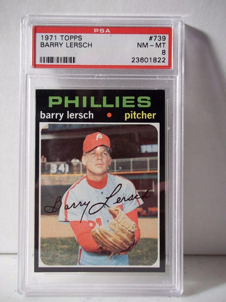 1971 topps barry lersch psa graded nmmt 8 baseball card