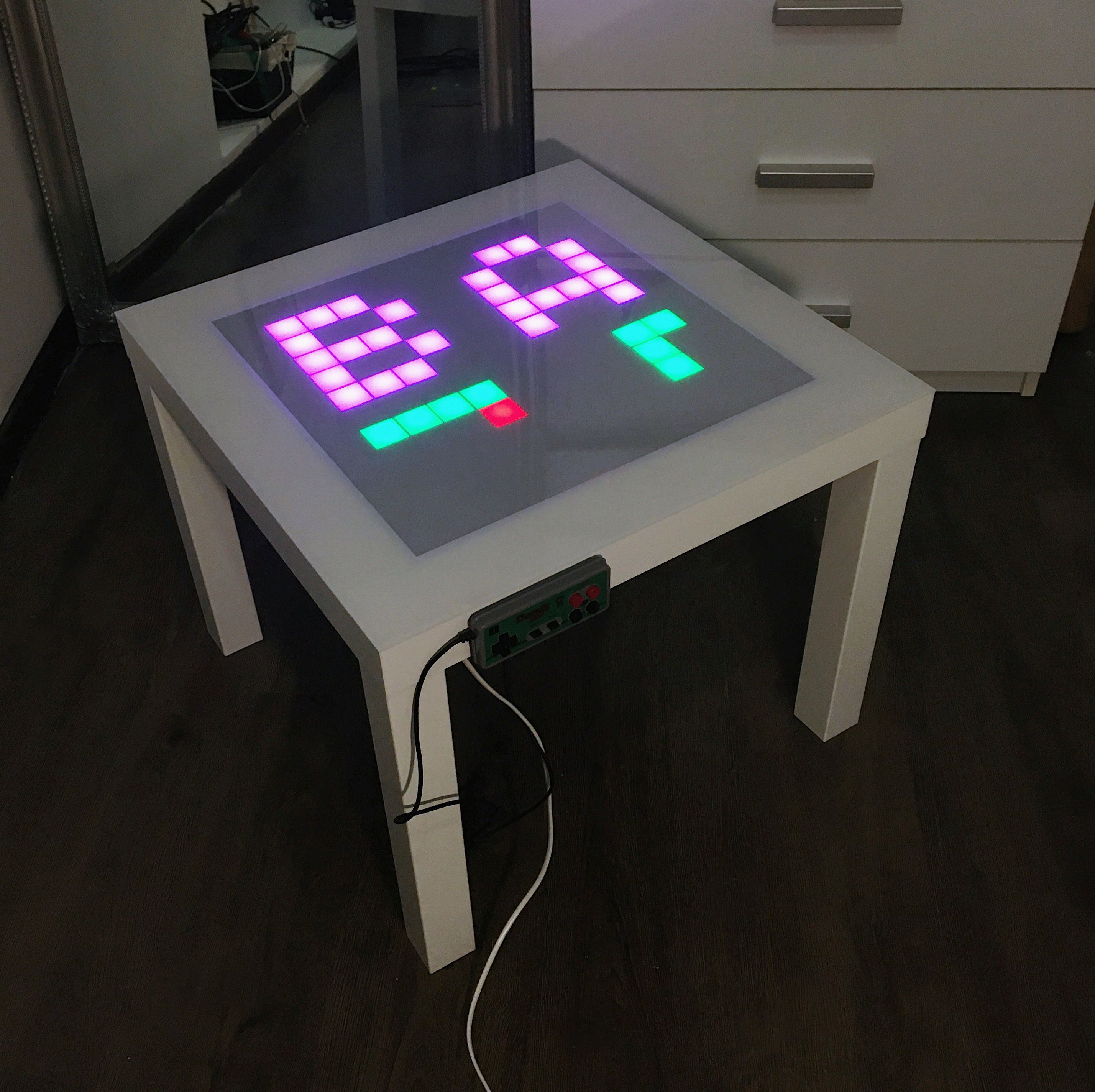 Led Coffee Table With Retro Games Table With Games Game Etsy Interactive Table Table Games Retro Games Console [ 2849 x 2857 Pixel ]