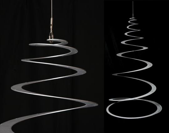 If It's Hip, It's Here: Oh Tannenboing! A Modern Sleek Aluminum Sustainable Christmas Tree