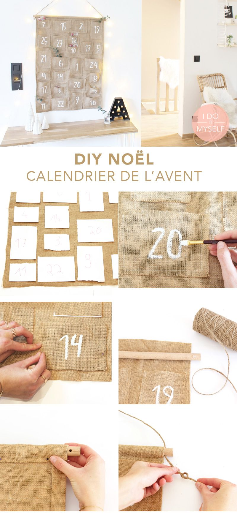 CHRISTMAS DIY   Create a cute home made advent calendar! Follow my tutorial  to create 6a3e40876e41