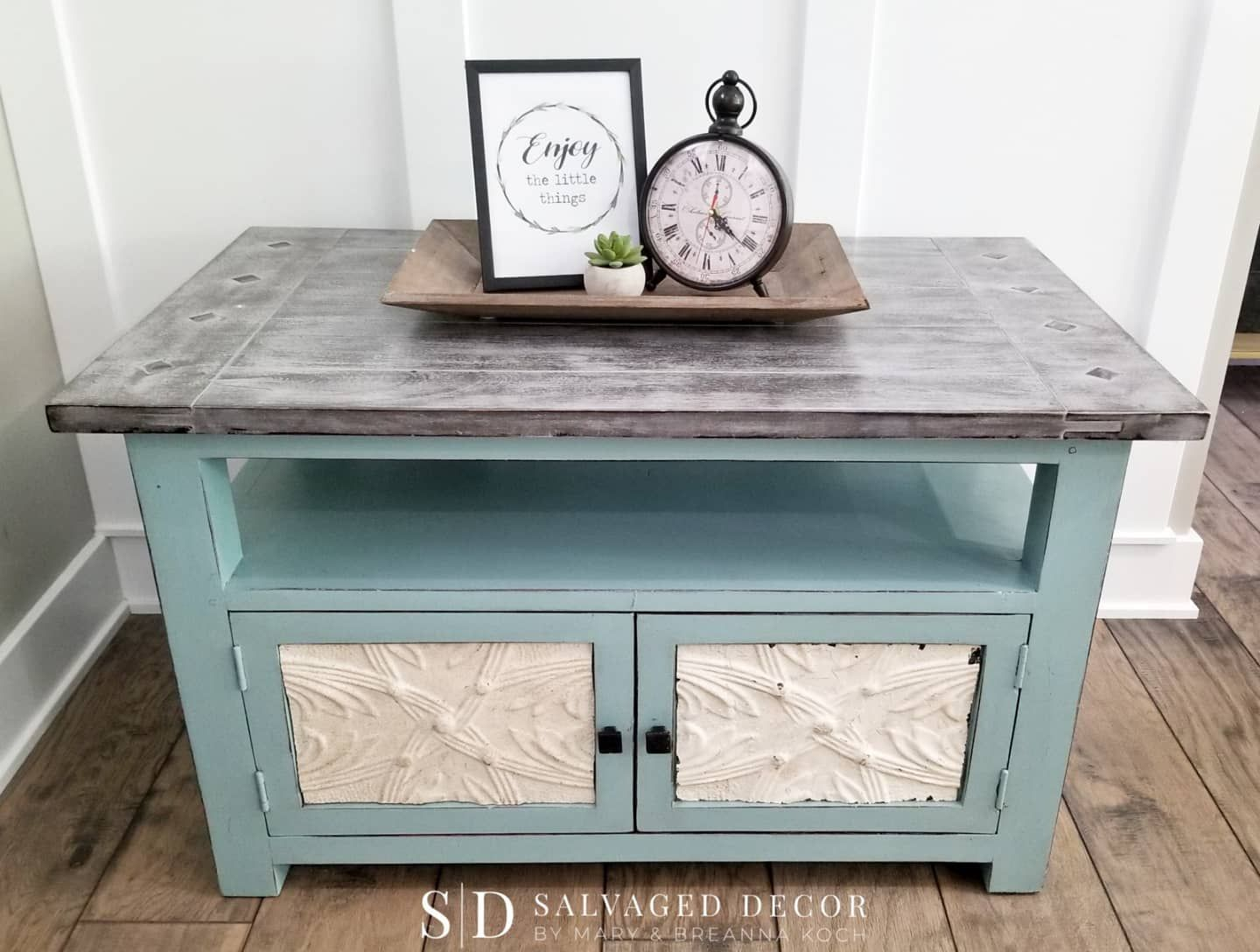 Furniture Makeover Waterfall Dresser Vanity Makeover Wood Stain Pink Chalkboard Paint Furniture Makeover Waterfall Vanity Vanity Makeover