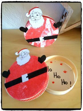 Bricolage de Noël : la boîte du Père Noël - #activitenoelenfant