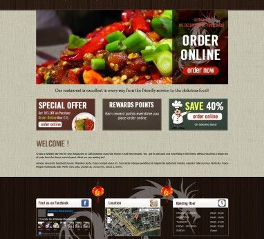 Restaurant Fast Food Takeaway Pizza Website Templates Restaurant Website Templates Restaurant Website Website Template