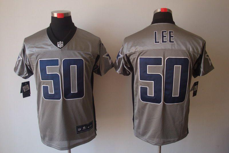 Men's NFL Dallas Cowboys #50 Sean Lee Grey Elite Jersey