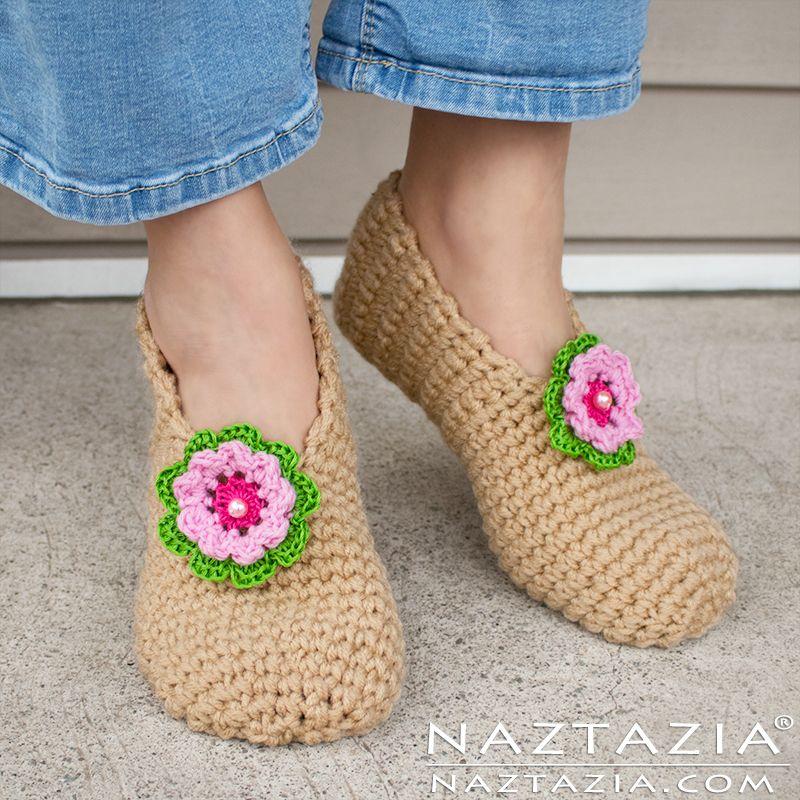 How to Crochet Sweet Simple Slippers - Adult Socks & Booties - DIY ...