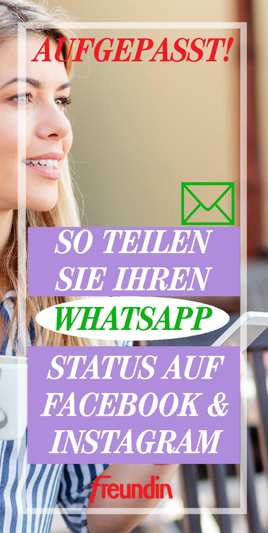 WhatsApp-Status auf Facebool und Instagram teilen: So geht
