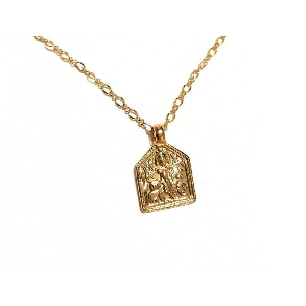Durga goddess necklace Liv Bambina ❤ liked on Polyvore featuring jewelry, necklaces, charm necklace, adjustable necklace and charm jewelry