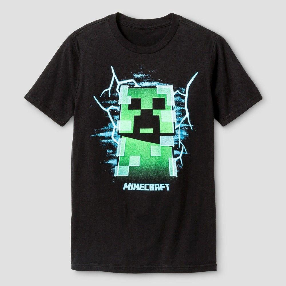 Minecraft Green Creeper Inside Boys//Kids Grey Short Sleeve Mojang T-Shirt