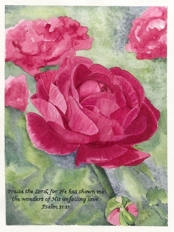 Watercolor flower, Spring Flower. Art Print