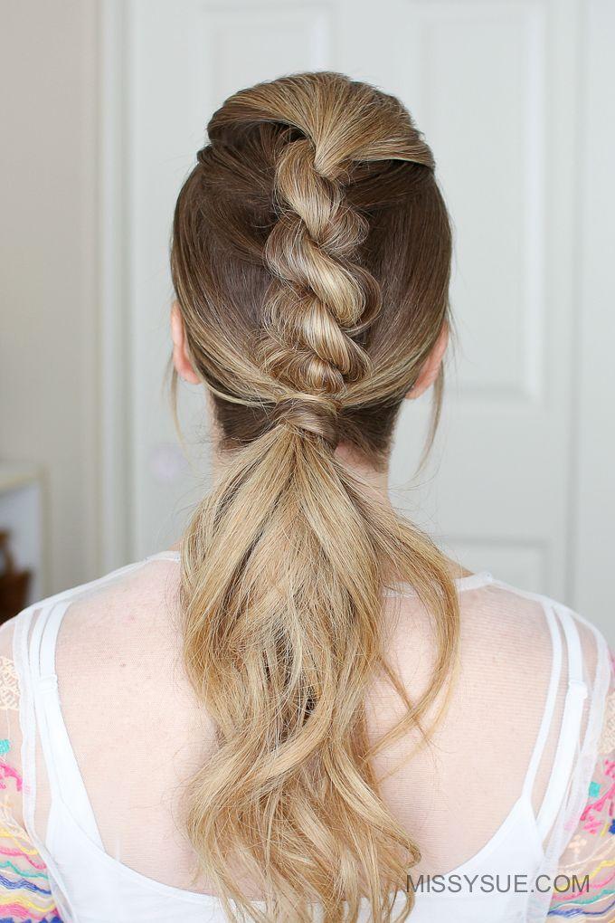 Easy Braided Hairstyles Custom 10 Short Hairstyles For Women Over 50  Rope Braid Braid Hairstyles