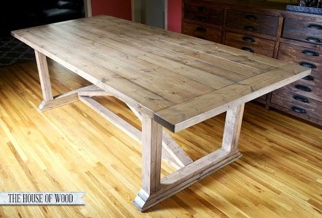 Rustic Yet Refined Wood Finish Ana White Restoration Hardware Look Layering Different Stain Colors Diy Dining Table Diy Dining Diy Dining Room Table