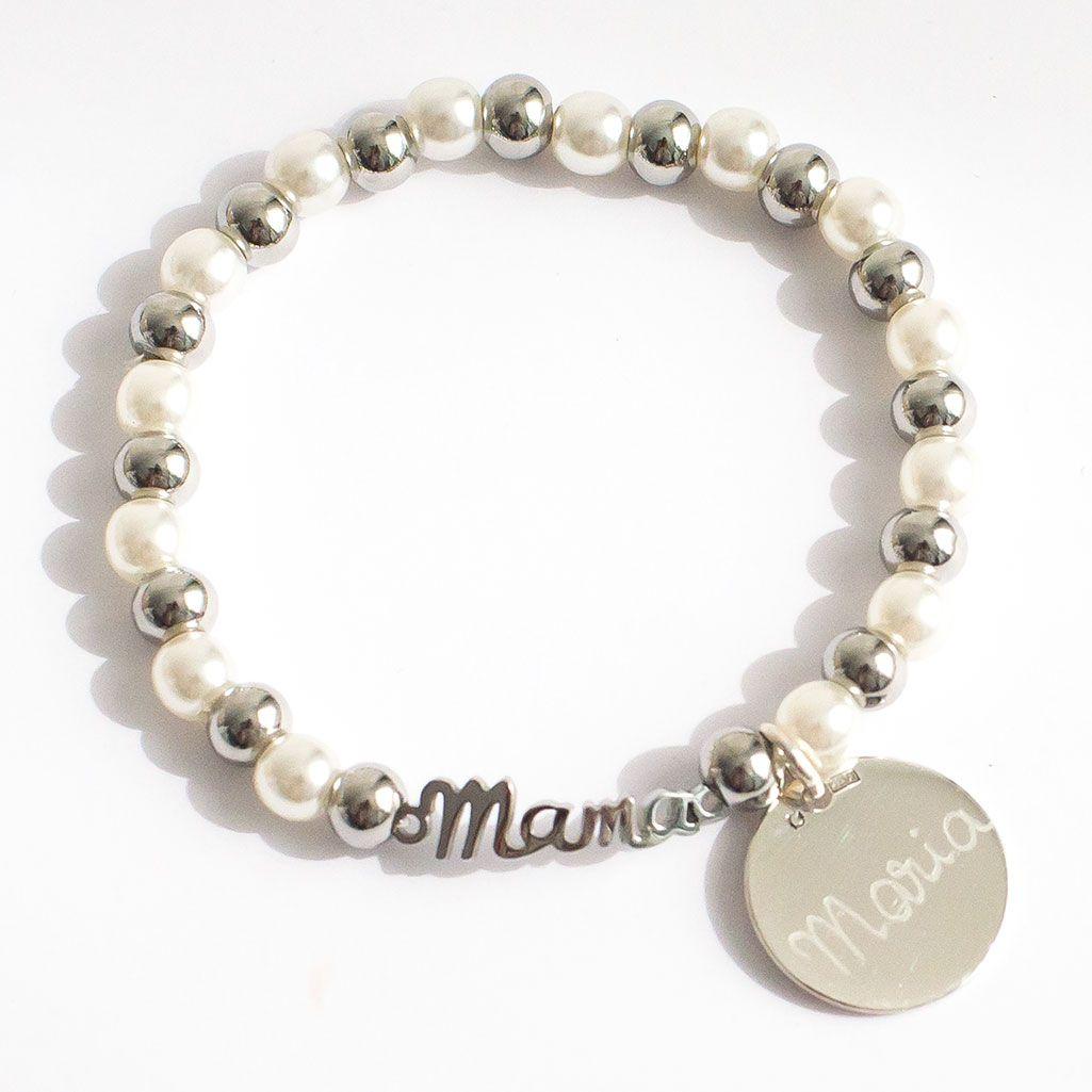 a581c442a4c5 Pulseras grabadas con nombre para madres en el día de la madre. Tienda  online